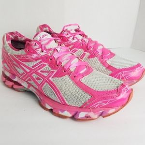 Asics Gel Pink Breast Cancer Running Shoes Sz 10